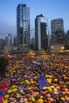 Pin for Later: The Most Compelling Pictures of 2014  Thousands of people gathered in Hong Kong for a peaceful protest with umbrellas, which served as a symbol for the prodemocracy movement.