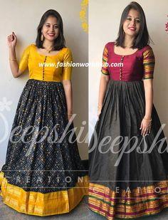 Indian Long Gowns, Indian Gowns Dresses, Indian Fashion Dresses, Kalamkari Dresses, Ikkat Dresses, Simple Kurti Designs, Half Saree Designs, Long Gown Dress, Long Frock