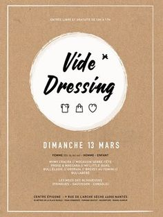 vide-dressing, affiche, nantes, bullelodie http://www.bullelodie.com/2016/03/potins-187.html