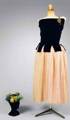 Ballerina Style evening dress by Paul Poiret, circa 1919; Denise Poiret; Dress and embroidered vest by Paul Poiret.