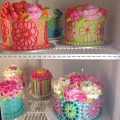 Buttercream Flower Cakes