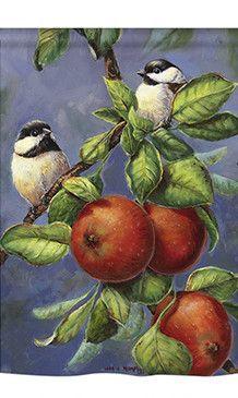 Trademark Global Wanda Mumm 'Chickadees And Apples Canvas Art - 47 x 35 x 2 Artist Canvas, Canvas Art, House Flags, Apple Tree, Baby Clothes Shops, Belle Photo, Baby Shop, Find Art, Framed Artwork