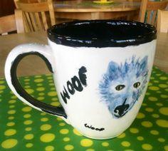 Dog Mug Painted By Customer