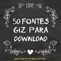 blog Vera Moraes - Decoração - Adesivos Azulej os - Papelaria Personalizada - Templates para Blogs: 50 Fontes Giz para download - Efeito lousa