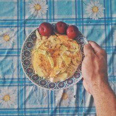 Café da manhã reforçado hoje. Ovos fritos com abobrinha e ameixa tentei copiar a receita do @bariatric_life