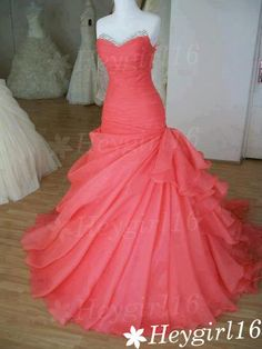 Stunning Ball Gown Sweetheart Sweep Train Prom/Wedding/evening/Party Dress