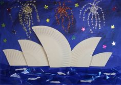 Paper Plate Crafts 486670303463954427 - Sydney Opera House Craft – Thinking Day – Australia Source by solenepa Australia For Kids, Australia Crafts, Sydney Australia, Around The World Theme, We Are The World, Around The World Crafts For Kids, Paper Plate Crafts, Paper Plates, Kunst Der Aborigines