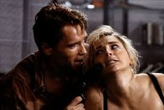 """☆Arnold with Sharon Stone in """"Total Recall"""", Film Science Fiction, Sci Fi Genre, New York Movie, Paul Verhoeven, Black Comics, Top Film, Total Recall, The Wb, Sharon Stone"""