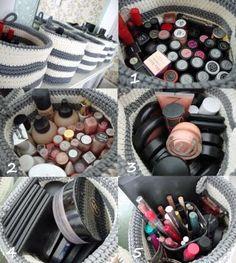 Creative makeup storage idea!