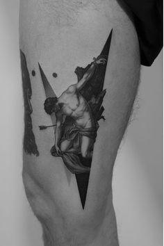 Elegant tattoos by Paweł Indulski - Tattoo artist Paweł Indulski authors styl. - Elegant tattoos by Paweł Indulski – Tattoo artist Paweł Indulski authors style black and grey - Dope Tattoos, Black Ink Tattoos, Body Art Tattoos, Small Tattoos, Sleeve Tattoos, Tattoos For Guys, 1 Tattoo, Arm Band Tattoo, Gotik Tattoo