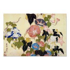 Morning Glory, Hokusai