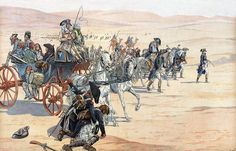 Napoleon and his troops in the desert during the Egyptian Campaign by Job (Jacques-Marie Gaston Onfray de Breville)