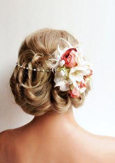 Cute flower in hair