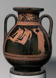 Two-handled storage jar (pelike) depicting young athletes jumping | Museum of Fine Arts, Boston