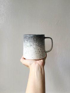 Appaloosa Modern Handmade Ceramic Coffee Mug Danish Design Style Splatter Spray Ombre Fade Source by etsy Pottery Mugs, Ceramic Pottery, Cream Mugs, Cerámica Ideas, Clay Studio, Design Blog, Modern Ceramics, Schmuck Design, Paper Clay