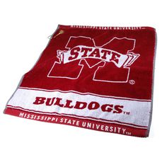 Team Golf Mississippi State Bulldogs Jacquard Woven Golf Towel