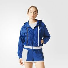Chamarra Originals Correr Mujer - Azul