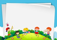 Cartoon children Cool Powerpoint Backgrounds, Wallpaper Powerpoint, Powerpoint Background Templates, Cute Backgrounds, Summer Backgrounds, Kids Background, Cartoon Background, Background Banner, Certificate Background