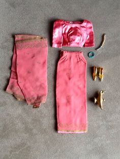Vintage Original Mattel Barbie Doll (Arabian Nights) Theater Costume Outfit #874 From 1964-1965y