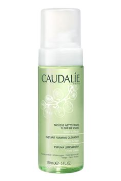 Ultra clean skin is the goal here, so cleanse again with a gentle foam to remove any dirt and imperfections. Caudalie Instant Foaming Cleanser, $28; caudalie.com   - MarieClaire.com