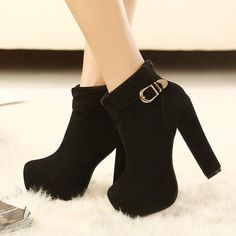 Fashionable black buckle bootie ankle heel boots for the trendy woman Stylish design sure to turn heads Perfect for parties or social events Made from PU 9 cm heel height Ankle Heels, Lace Up Heels, Pumps Heels, Stiletto Heels, High Heels, Prom Heels, Stylish Shoes For Women, Stylish Boots, Trendy Shoes