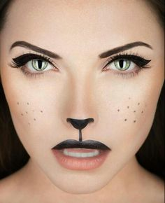 Cat make-up, love this!! Halloween awesomeness.