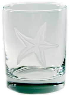 Amazon.com: Starfish Double Old Fashioned 14oz Glasses Set of 4 Gift Box Nautical Tropical Home Decor: Home & Kitchen