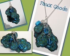 polymere clay faux stone tutorial | Polymer Clay Faux Geode Rock Slice Pendant | Flickr - Photo Sharing!