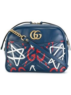 Shop Gucci GG Marmont GucciGhost shoulder bag.