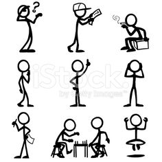 Stick Figure People Thought royalty-free stock vector art