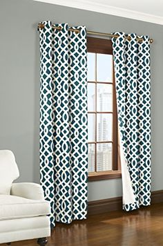 """Trellis Thermalogic Teal 80"""" X 84"""" Grommet Top Curtains Thermalogic http://www.amazon.com/dp/B00MX7CEES/ref=cm_sw_r_pi_dp_Uckcvb0SKENMW"""