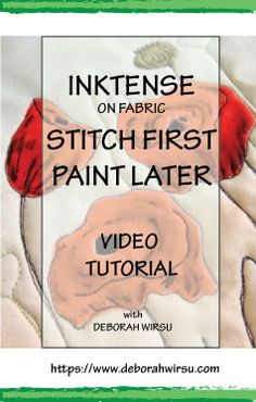 Stitch or Quilt your fabric first then paint with Inktense pencils or blocks to create stunning quilts or textile pictures using this easy method! Deborah Wirsu explains everything you need to know in this free video quilting tutorial about using Inktense on fabric.