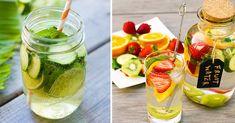 15 Saludables y deliciosas bebidas que te quitarán la sed Grapefruit Water, Cucumber Water, Lemon Water, Apple Cinnamon Water, Healthy Drinks, Healthy Recipes, Healthy Food, Mint Water, Juice Of One Lemon