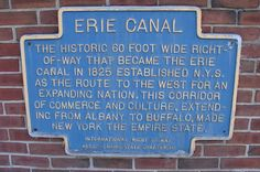 And of course... the Erie Canal.