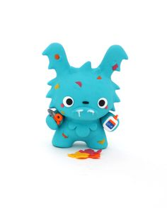 """The Crafting Creature Artist: Jenn and Tony Bot A customized 3"""" tall Dunny, sculpted upon using polymer clay, by Jenn & Tony Bot (The Bots)."""
