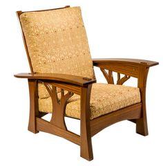 Brian Brace Furniture - Arbor Bow Arm Morris Chair