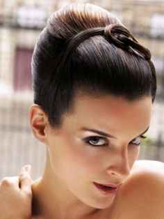 Love The Poofy Pulled Back Bang