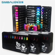 12 / 24 / 36 colores / Set niños de pintura escritura pluma de color de lápiz de acuarela material de oficina papelería escolar Art Marker Pen(China (Mainland))