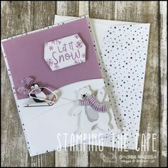 Stampin Up Christmas, Christmas Cards To Make, Xmas Cards, Cute Penguins, Paper Pumpkin, Stamping Up, I Card, Cardmaking, Noel