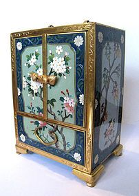 Japanese Antique Cloisonne Jewelry Box with Drawers....first one i have EVER seen like this....freaking awesome!!!