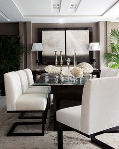 Modern Dining Room Design Ideas - If loading spaces with the current trends in house design is your suggestion of enjoyable, then decorating a dining room is like a journey to the amusement park. Furniture, Room Design, Interior, Home, Dining Room Chairs, White Dining Room, House Styles, House Interior, Interior Design