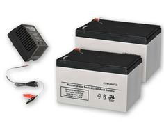 Kit of Two 12V 12AH Batteries  12V 1AH Battery Charger -- Visit the image link more details.