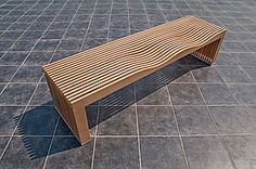 Taklamakan; wooden bench