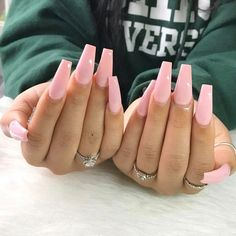 Best Gel Nail Art Designs For Long Best Gel Nail Art Designs For Long Nails 2018 Gel nails ar a lot of best nails since they need very little odds of obtaining raised and facilitate in reinforcing the real nails if utilised as a base c Aycrlic Nails, Cute Nails, Pretty Nails, Nails 2018, Gel Manicure, Coffin Nails Long, Long Nails, Short Nails, Gel Nail Art Designs