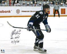 Martin St Louis Tampa Bay Lightning Signed Break Away Goal VS Islanders 16x20