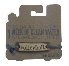 Every band sold provides 1 week of clean water to someone in need! Getting these for the team next season!