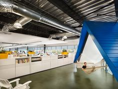Every office needs a hammock! - HomeAway Headquarters in Austin Texas by CTA Architects Engineers