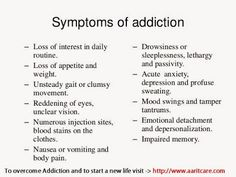 #Symptoms of #addiction, #AaritRecoveryCentre helps #addicts to overcome #addiction