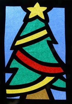 Lavoretti di Natale 2014: vetrofanie di carta velina