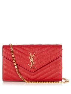 Monogram envelope quilted-leather cross-body bag | Saint Laurent | MATCHESFASHION.COM